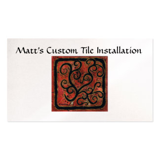 Matt's Custom Tile Installation Double-Sided Standard Business Cards (Pack Of 100)