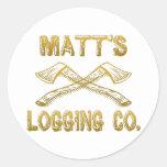 Matt's Logging Company Classic Round Sticker
