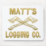 Matt's Logging Company Mouse Pad