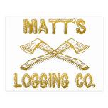 Matt's Logging Company Postcard