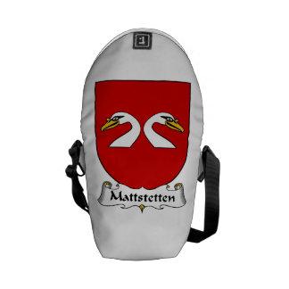 Mattstetten Family Crest Messenger Bags