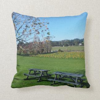 Matua Valley Vineyard Vista. West Auckland, NZ. Throw Pillow