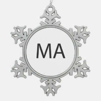 Mature Audience.ai Snowflake Pewter Christmas Ornament