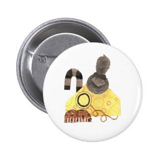 Mature Cheddar Badge Button