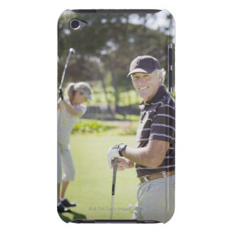 Mature couple playing golf iPod Case-Mate case