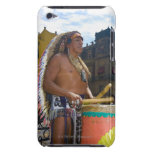 Mature man playing drums with drumstick, Zocalo, Barely There iPod Case