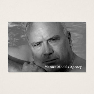 Mature models agency business card