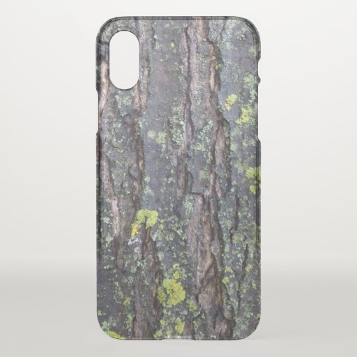 Mature Tree Bark Clear Phone Case