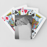 Mature Woman Bicycle Playing Cards