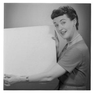 Mature Woman Ceramic Tile
