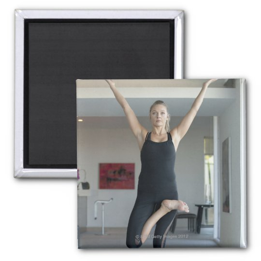 Mature woman exercising 2 magnet