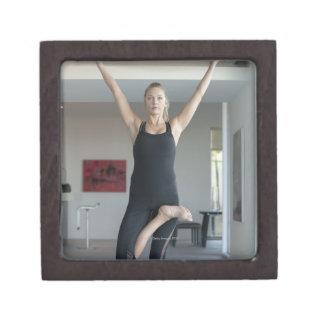 Mature woman exercising 2 premium trinket box