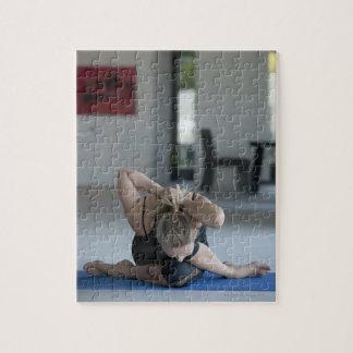 Mature woman exercising 3 jigsaw puzzle