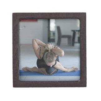 Mature woman exercising 3 premium trinket box