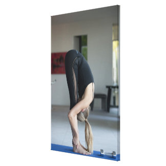 Mature woman exercising gallery wrap canvas