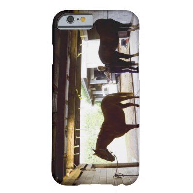 Mature Woman looking after horse Barely There iPhone 6 Case