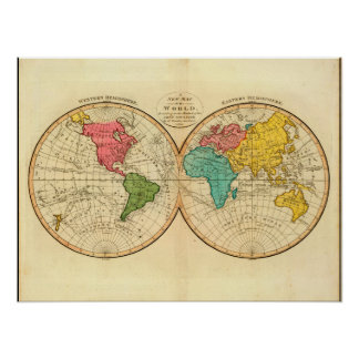 Mature World Map 7_Maps of Antiquity Poster