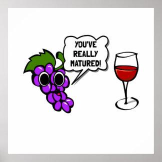 Matured Wine Poster