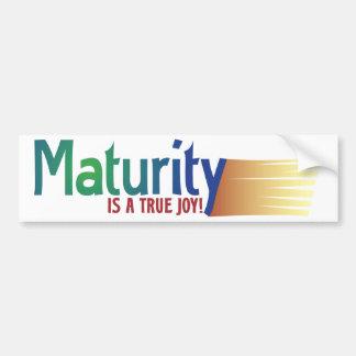 Maturity Car Bumper Sticker