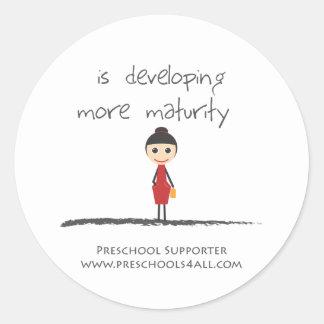 maturity-girl classic round sticker