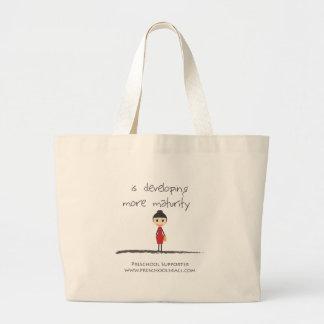 maturity-girl tote bags