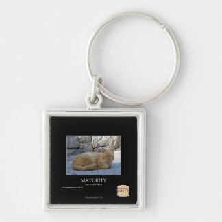 Maturity Silver-Colored Square Keychain