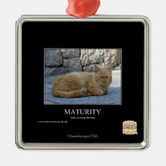 Maturity Square Metal Christmas Ornament
