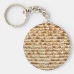 Matzah biscuit flatbread basic round button keychain