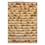 Matzah biscuit flatbread card