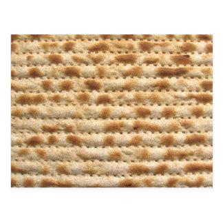 Matzah biscuit flatbread postcards