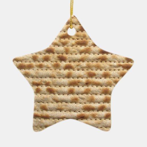 Matzah biscuit flatbread star ornament decoration