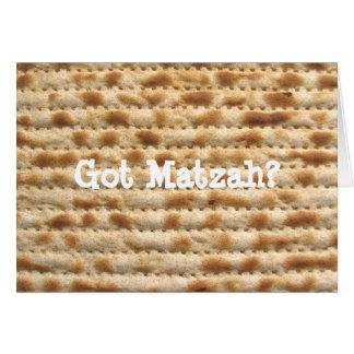 ¿Matzah conseguido? Tarjeta de felicitación del Pa