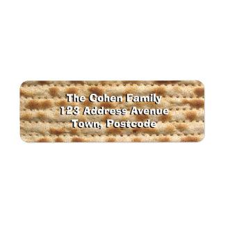Matzah Etiqueta De Remite