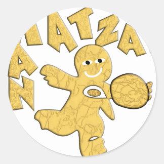 Matzah Man Classic Round Sticker