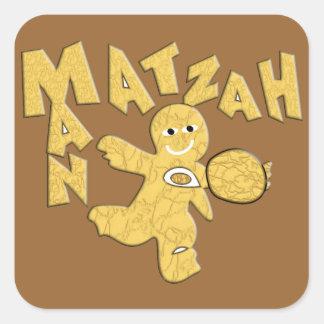 Matzah Man Square Sticker