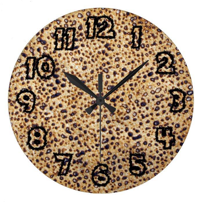 Matzah Time Large Clock