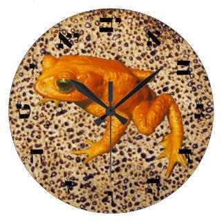 Matzah, Tzfardea (Frog) & Hebrew Numerals Large Clock