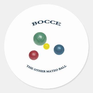 Matzo Bocce Ball Classic Round Sticker