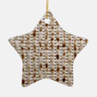 MATZO DESIGNS FOR PESACH CERAMIC ORNAMENT