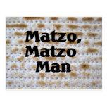 Matzo, hombre del Matzo Tarjeta Postal