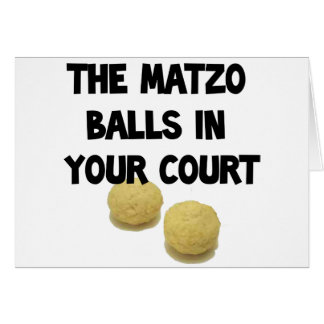 matzoh balls greeting card