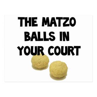 matzoh balls post card
