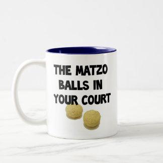 matzoh balls Two-Tone coffee mug