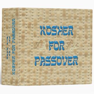 Matzoh kosher para la carpeta de la receta del Pas