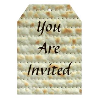 Matzoh Passover Seder Invitation
