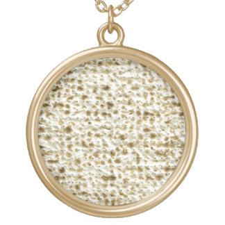 Matzoh Round Pendant Necklace