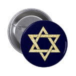 Matzoh Star of David 2 Inch Round Button