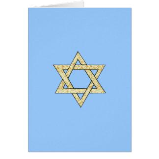 Matzoh Star of David Card
