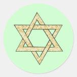 Matzoh Star of David Classic Round Sticker