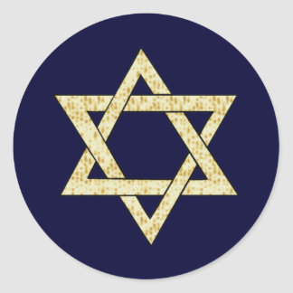 Matzoh Star of David Classic Round Sticker